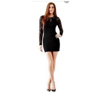 Guess size large black lace dress bodycon